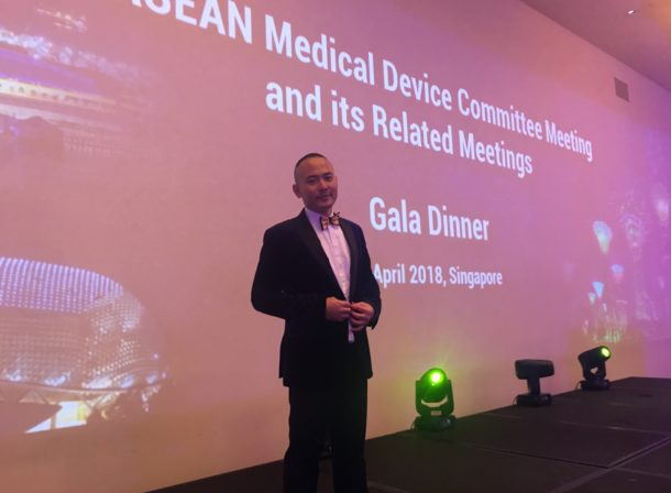 One of the most popular Master of Ceremonies - Winston Wei hosting the Gala Dinner for the Asean Medical Device Committee Learn more about the event at http://www.apacmed.org/event/6th-asean-medical-device-committee-amdc-meeting/